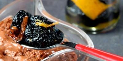 photo Mousse au chocolat et confit d'olives noires d'Espagne