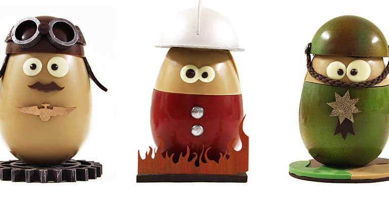 P ques 2014 quand humour et art inspirent les chocolatiers - Quand ramasser les oeufs de paques ...